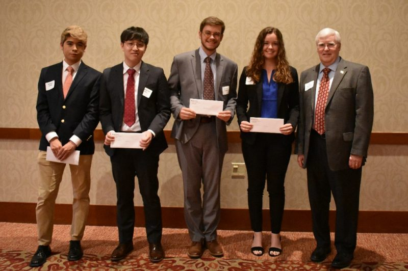 Ted Browning presented the Christopher Allen Johnson Memorial Scholarships in Accounting