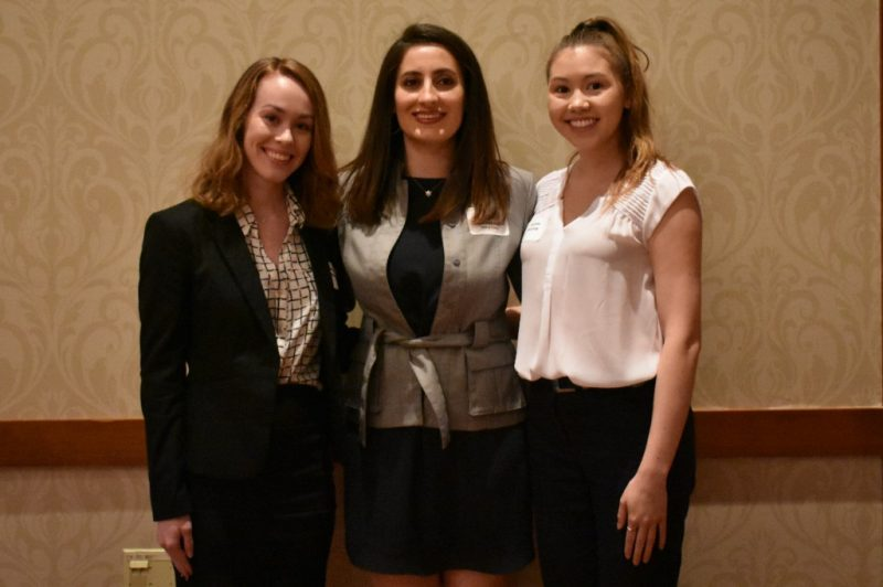 Negar Jamshidimehr, Ernst & Young presented the Virginia Owen Williams Memorial Scholarship