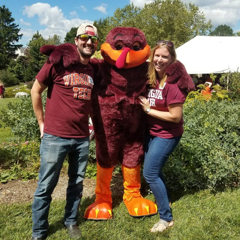 Hokie Bird at ACIS Tailgate